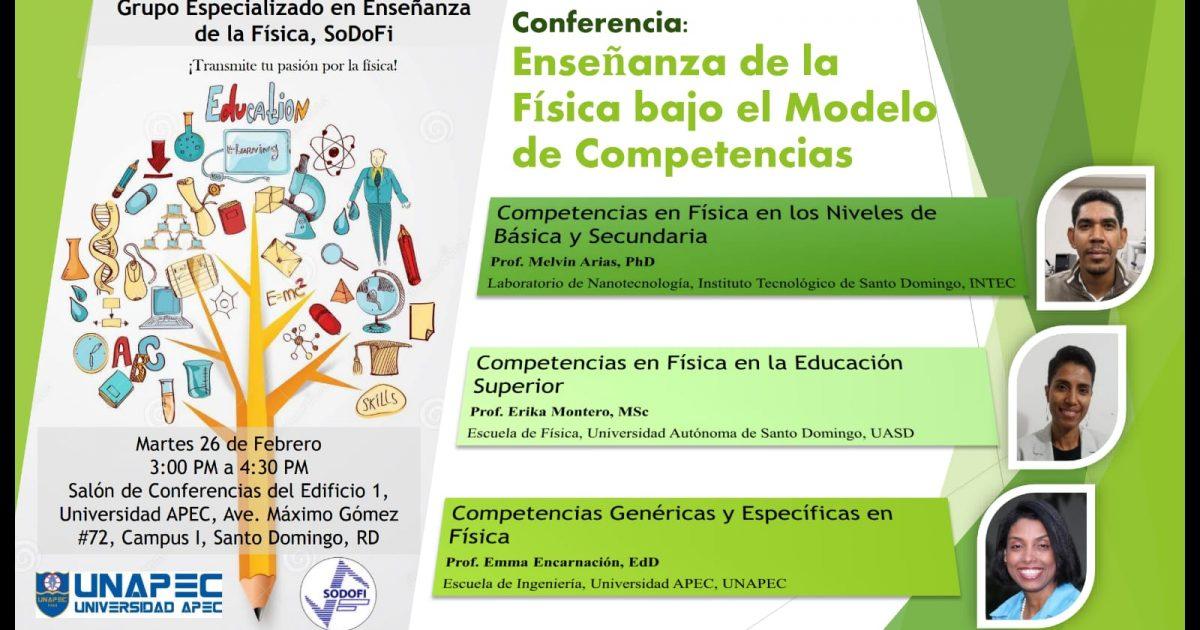 conferencia enseñanza de la fisica bajo el modelo de competencias