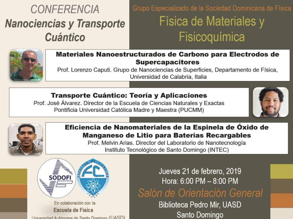 Conferencia nanociencia y transporte cuántico