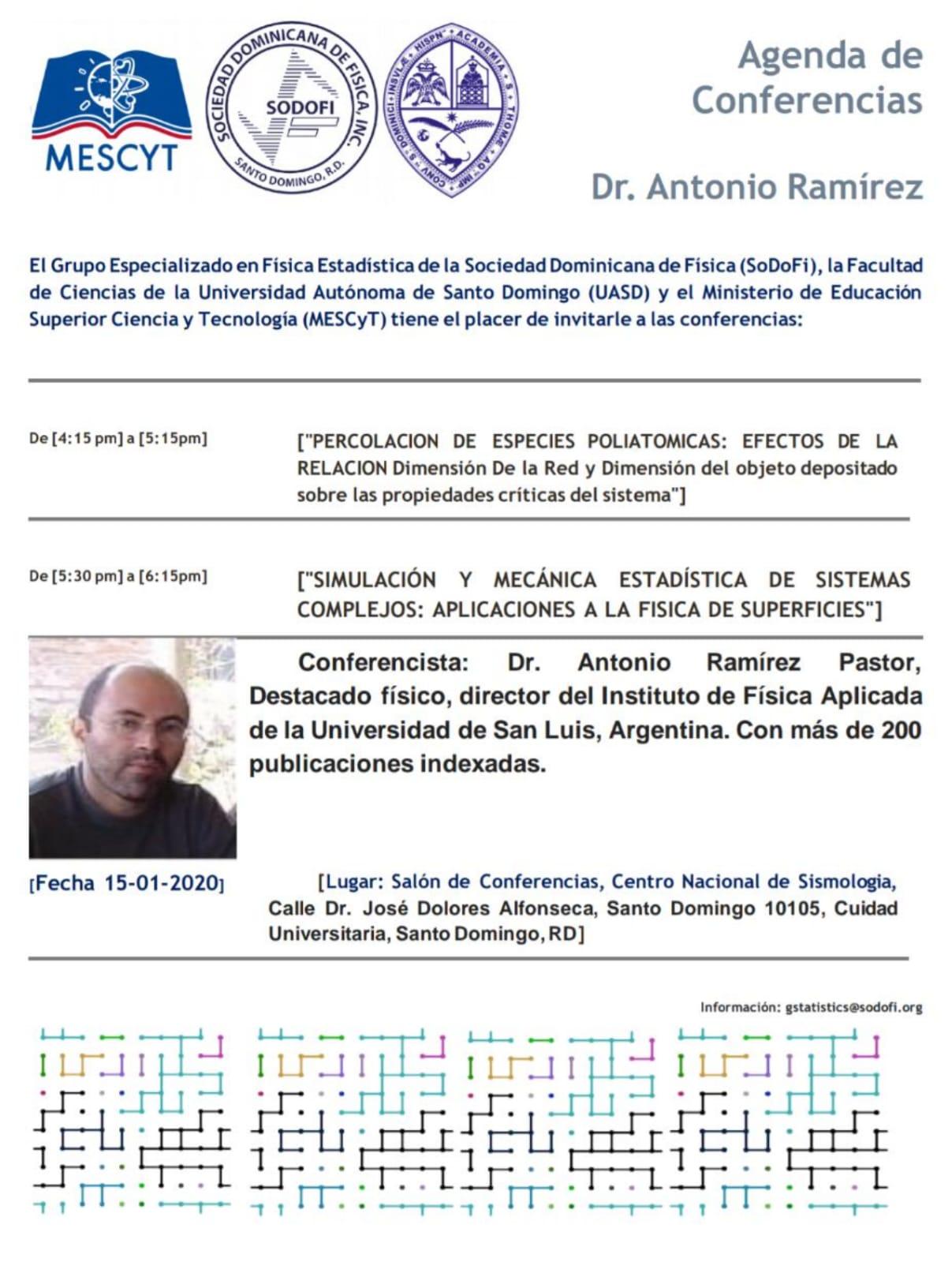 Conferencias Dr. Antonio Ramírez