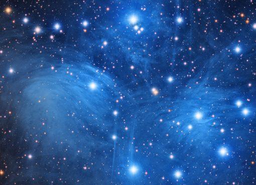 nebulosa y estrellas en la galaxia